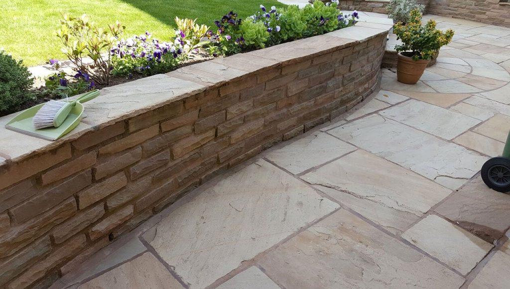 garden paving cobble steps brickwork patio